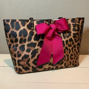 Betsey Johnson LEOPARD TIE THE KNOT TOTE